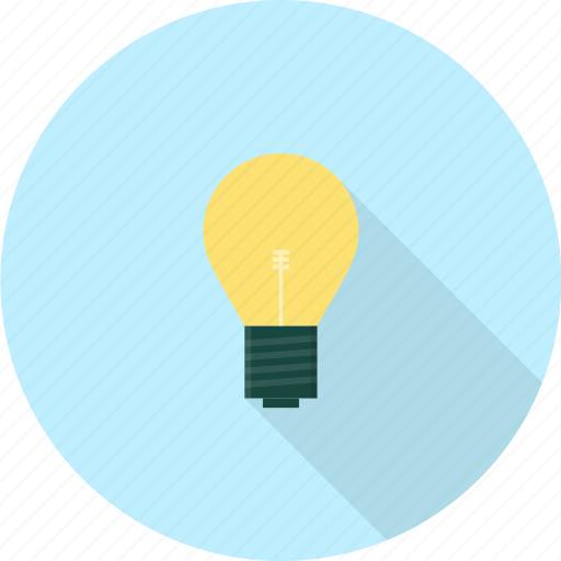 bulb, electricity, electronics, glass, lamp, shiny icon