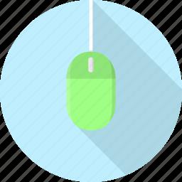 click, cursor, electronics, mouse, peripheral, technology icon