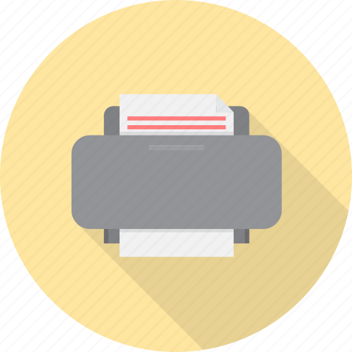 color, device, digital, electronics, paper, printer icon