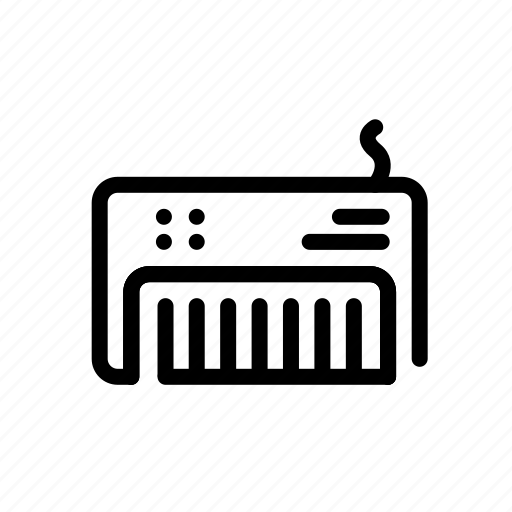 device, electronic, keyboard, music icon