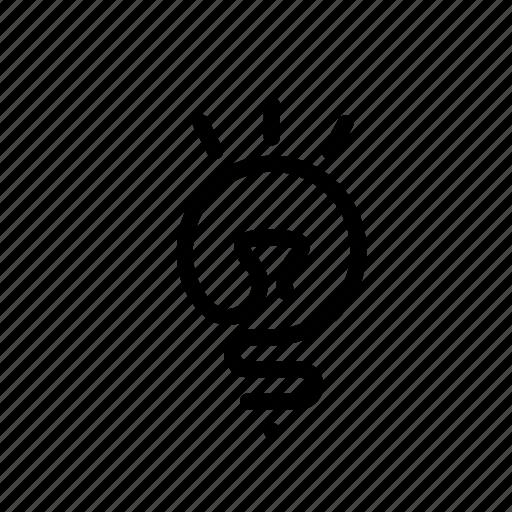 device, electronic, light, lightbulb icon