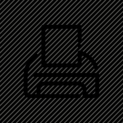 appliance, device, electronic, printer icon