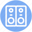 .svg, music system, speaker box, speakers, subwoofer, woofer icon