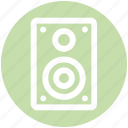 .svg, music system, speaker, speaker box, subwoofer, woofer icon