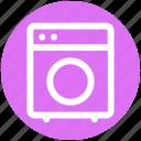 .svg, clothes, electronics, machine, washing, washing machine icon