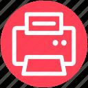 .svg, electronics, fax, fax machine, paper, printer icon