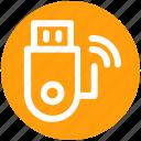 .svg, data, device, disk, storage, usb, wireless icon