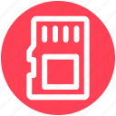 .svg, data storage, memory card, memory storage, sd card, storage device icon