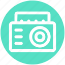.svg, boom box, cassette player, cassette recorder, radio stereo, stereo icon