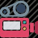 camera, film camera, film recorder, movie camera icon