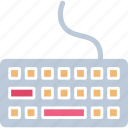 computer keyboard, electronics, keyboard, typing board icon