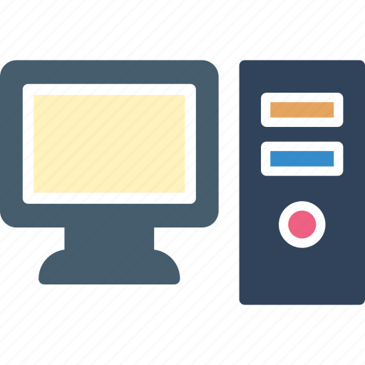 computer, desktop computer, desktop pc, personal computer icon