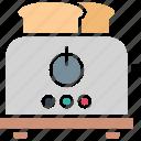 electronics, sandwich toaster, slice toaster, toast machine icon