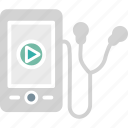 device, ipod, mp4 player, music player icon