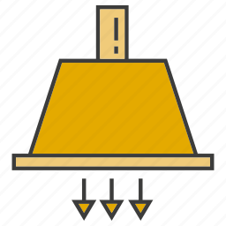 air, appliance, flow, hang, home appliance, ventilator icon