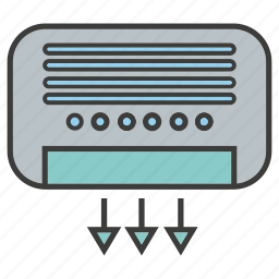 air, air conditioner, cool, electronic, flow, home appliance, ventilator icon
