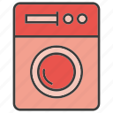 clean, electronic, home appliance, hygiene, washer, washing, washing machine icon