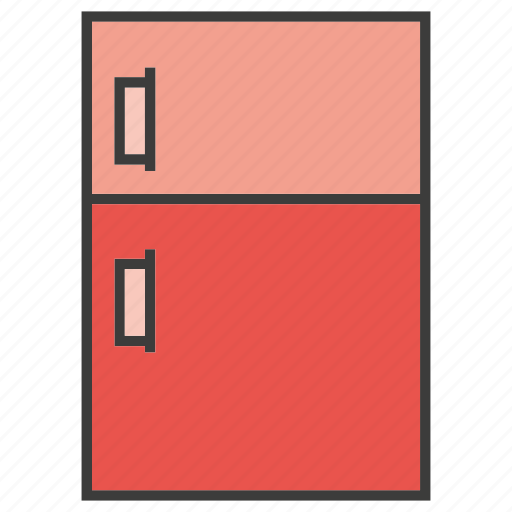 cold storage, electronic, home appliance, refrigerator icon