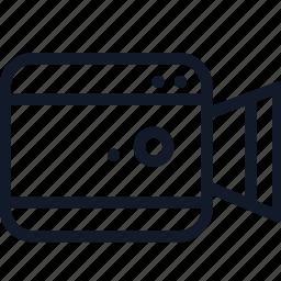 camera, electronics, line, media, record, video icon