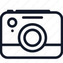 camera, electronics, line, photo, picture, video icon