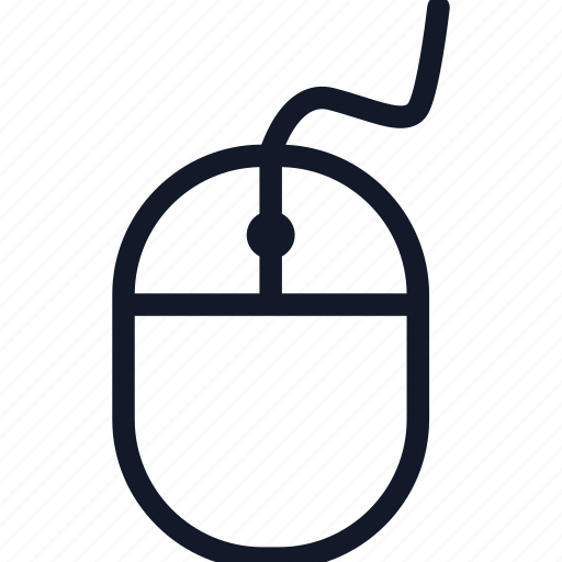 computer, device, electronics, equipment, line, mouse, technology icon