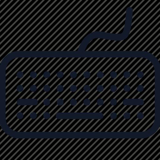 computer, electronics, keyboard, keypad, line, multimedia, technology icon