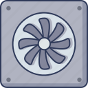 fan, computer, technology, cooling, system, air, conditioner