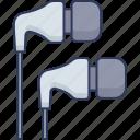 headphones, earphone, sound, audio, technology, music, multimedia