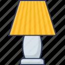 table, lamp, light, illumination, electronics, desk, electricity