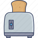 toaster, bread, toast, breakfast, kitchenware, bakery, electronics