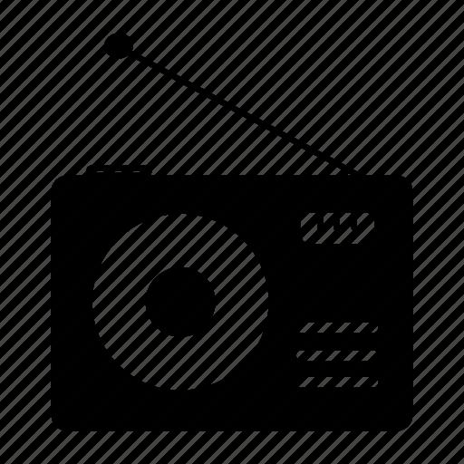 electronic, music, radio icon