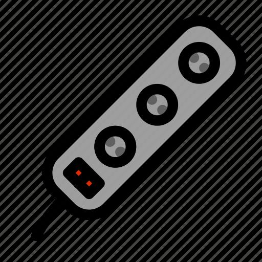 cable, diverter, power, protector, suppressor, surge icon