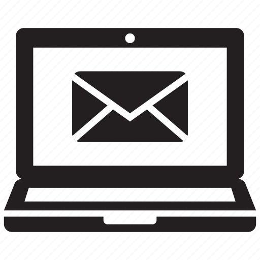 computer, laptop, mail icon