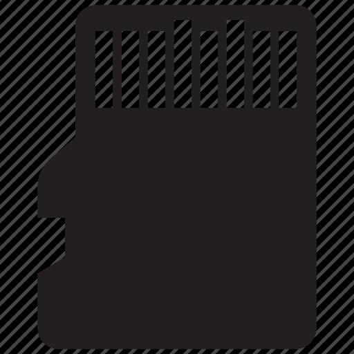 memory, micro, sd, storage icon