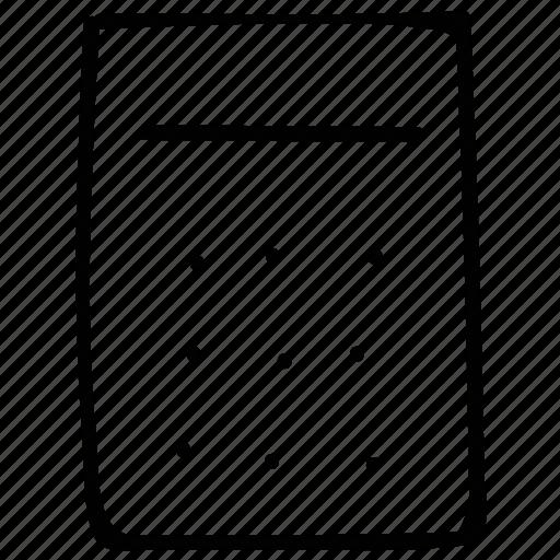 caculator, calculate, print, print calculator icon