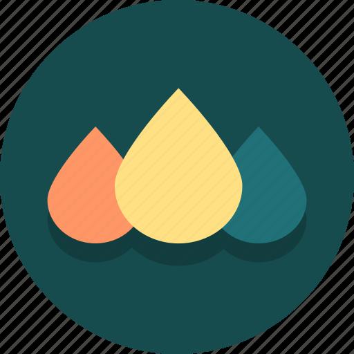 cmyk, creative, drop, drops, ink, liquid, web icon