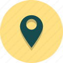 location, navigation, pin, place, pointer, target, web icon