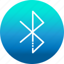 bluetooth, communication, connection, internet, network, wireless icon