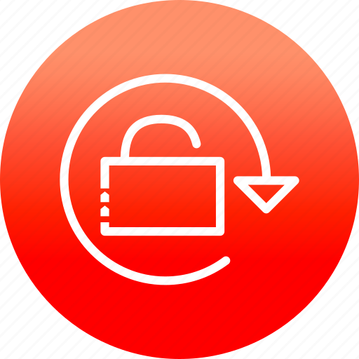 key, protect, rotate, security, unlock icon