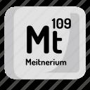 meitnerium, atomic, element, atom, chemistry, mendeleev icon
