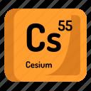 chemistry, atomic, cesium, element, atom, mendeleev icon