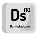 chemistry, atomic, element, darmstadium, atom, mendeleev icon