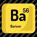 chemistry, atomic, element, barium, atom, mendeleev icon