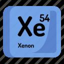 science, chemistry, atomic, element, atom, xenon, mendeleev icon