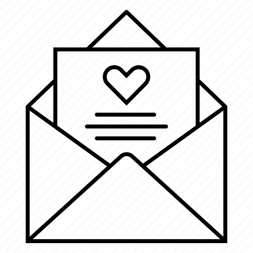 email, envelope, heart, letter, love, love letter, mail icon
