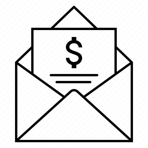 draft, email, envelope, finance icon