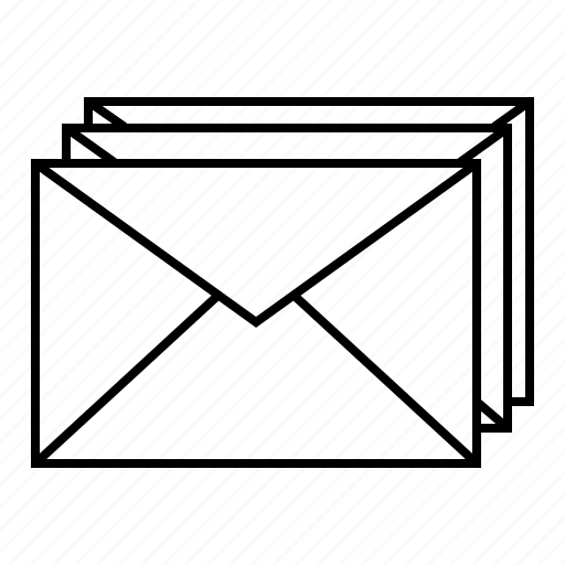 collection, email, emails, envelope, mails, multiple emails icon