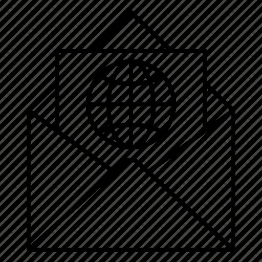 attachment, email, envelope, internet, url, web icon