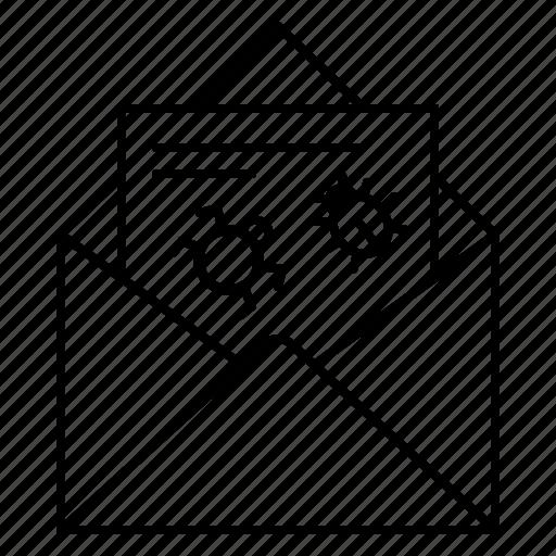 bugs, email, envelope, malware, spy, trojan virus, virus icon