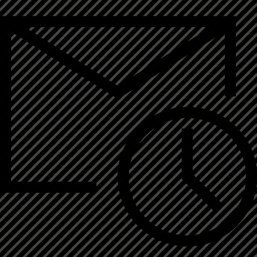 Envelope, letter, mail, message, scheduled, send, часы icon - Download on Iconfinder